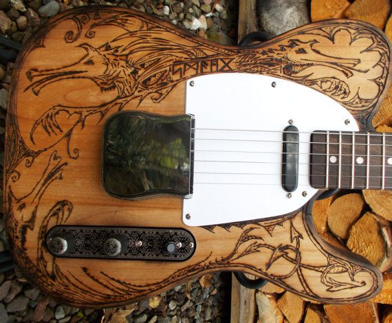 Pyrograph partscaster  one of a kind Electric by JohnWoodBarclay