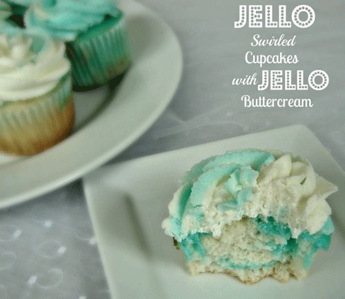 Jello Swirl Cupcakes with Jello Buttercream Icing-the possibilities are endless! www.chocolatechocolateandmore.com #jello