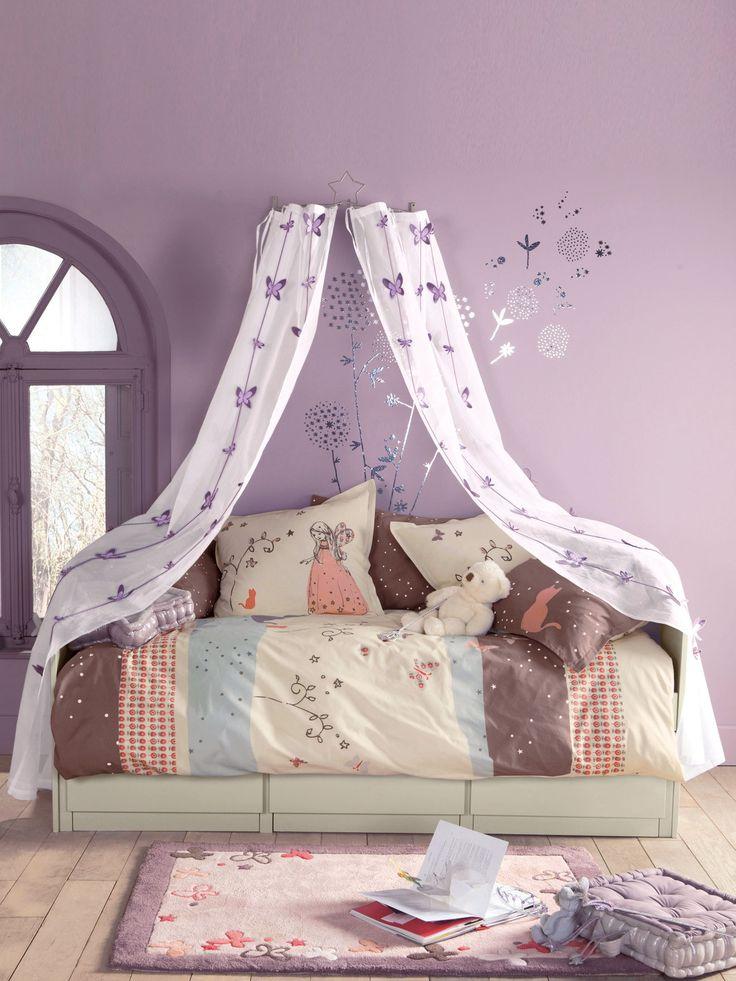 M s de 25 ideas incre bles sobre camas del desv n de ni as en pinterest loft bed decorating - Dosel para cama nina ...