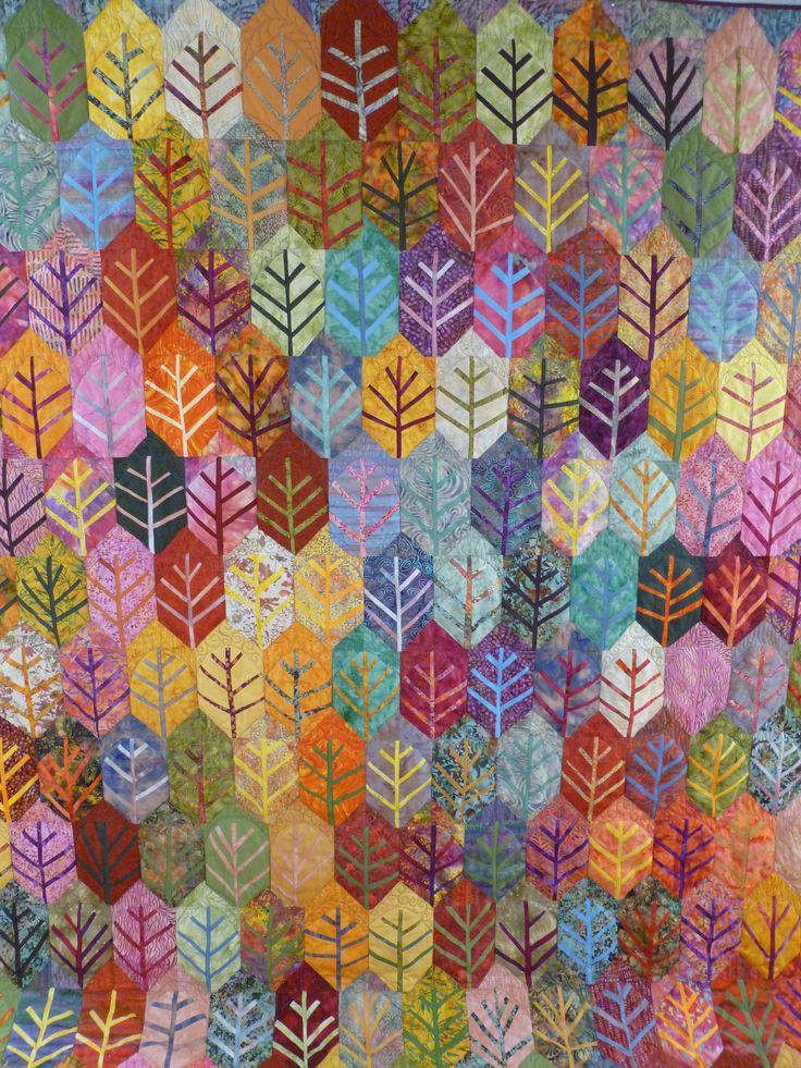 Indian Summer, ein Quilt von Bernadette Mayr #tinlizzie18 #quilting #longarmquilting