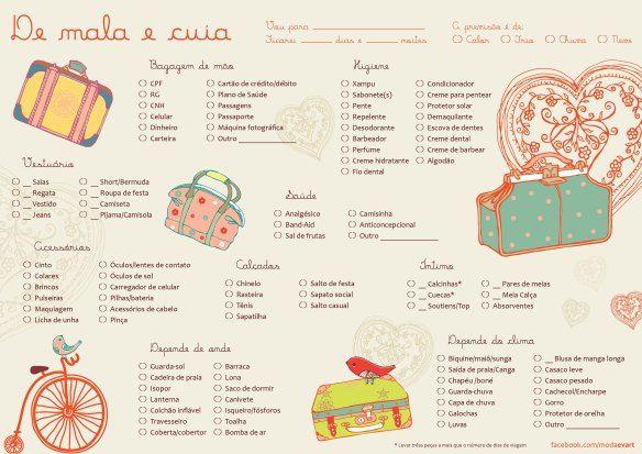 """""""lista"""" """"como arrumar mala"""" """"check list"""" """"viagem"""" """"viajar"""" """"bagagem"""" """"dicas"""" """"pdf'"""" """"moda"""" """"evart"""""""