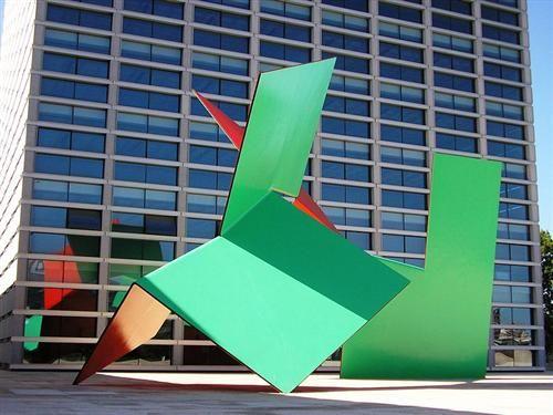 Sculpture in front of Burgo Empreendimento - Angelo de Sousa - Minimalism