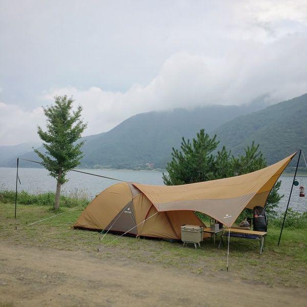 自作 小川張り用 セッティングテープ タープ 自作 の3枚目の写真 テントキャンプ キャンプツーリング キャンプ