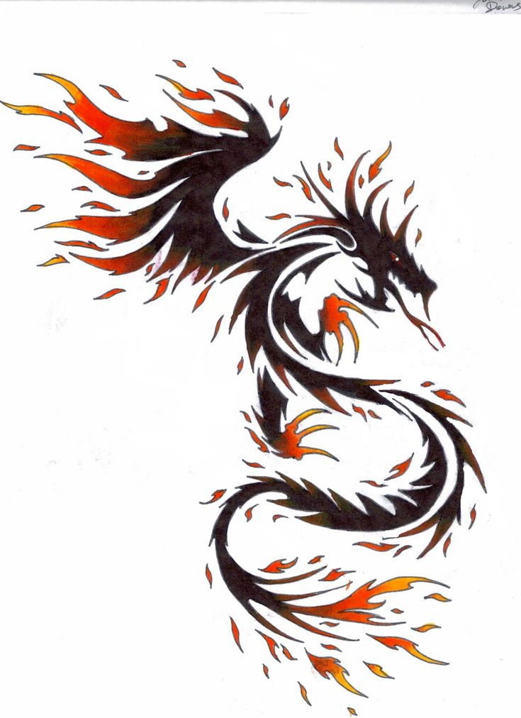 fire dragon by kitsune-lunar-rose.deviantart.com on @deviantART