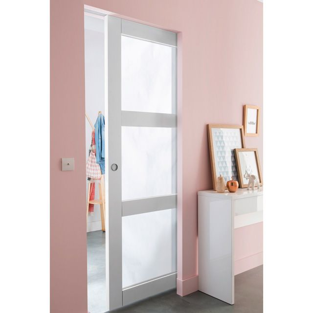 Porte galandage en verre portes coulissantes pinterest for Porte coulissante wc