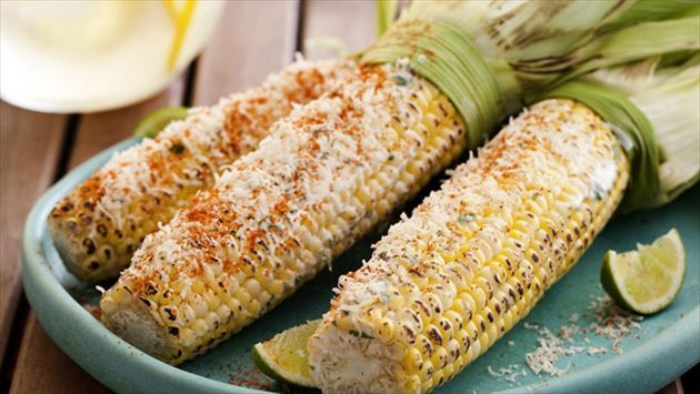Mexican Grilled Corn Recipe : Tyler Florence : Food Network