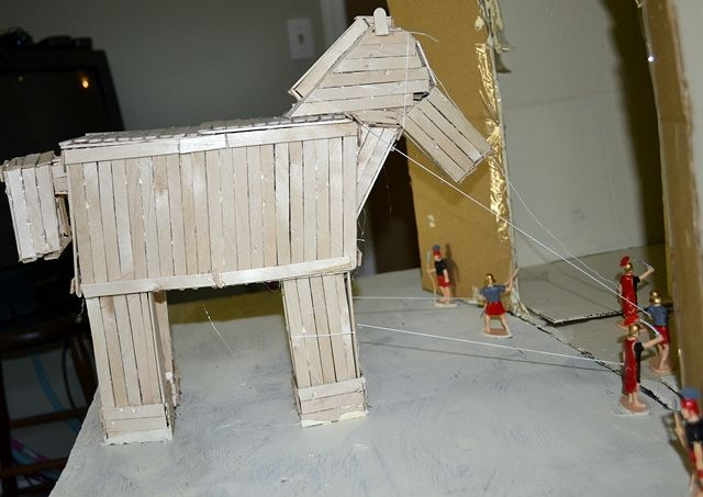 how to make a model of Trojan war horse - Google Search