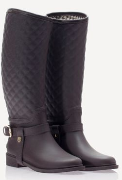 Purple/White Wellington Boots With Mock Eyelet Holes w0lXUSx