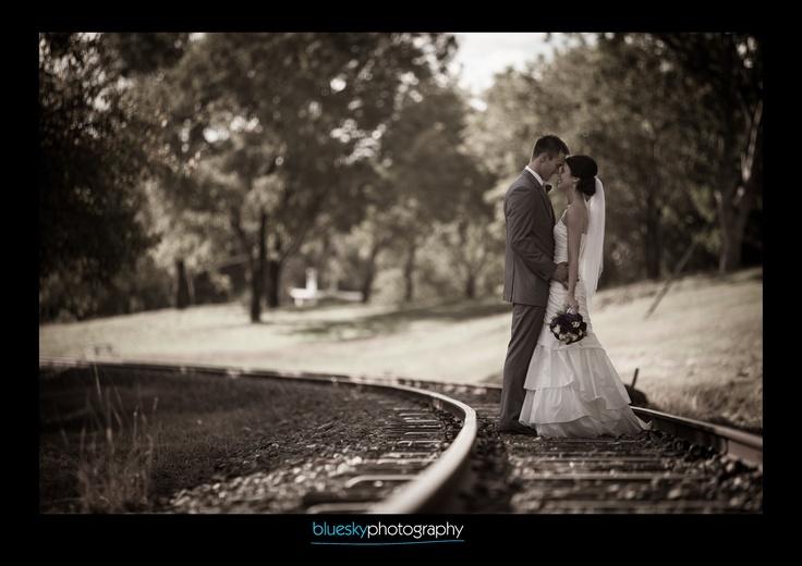Mareeba wedding photographer. I love railway tracks!!