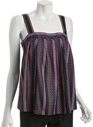 Marc by Marc Jacobs normandy blue dot stripe silk-cotton tank. Click here http://bit.ly/IMiL3e and get your free Divalicious app for iPhone http://bit.ly/xl0JTv or Android http://bit.ly/y7z0au