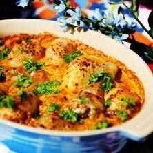 Kyckling i tomat- och currysås