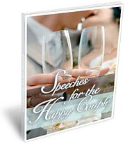 Speeches for the Happy Couple ~ Prewritten Bride & Groom Wedding Speech Templates and Wedding Toasts PLUS Free Wedding Poems, Quotes, Jokes...