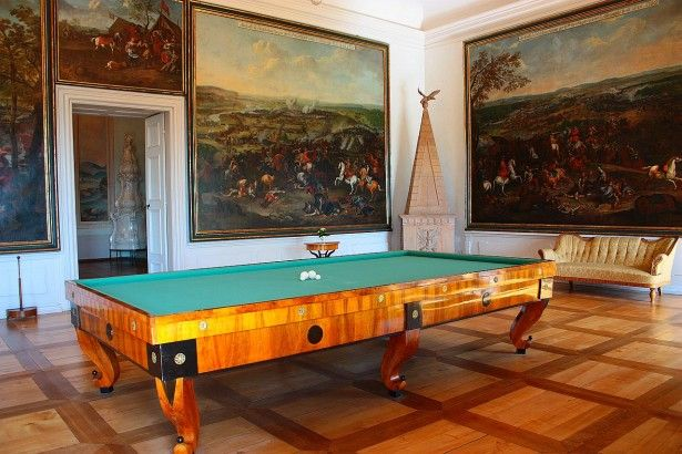 La sala da biliardo nel Castello di Litomysl, Repubblica Ceca © Andrea Lessona
