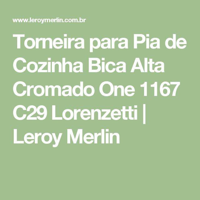 Torneira para Pia de Cozinha Bica Alta Cromado One 1167 C29 Lorenzetti | Leroy Merlin