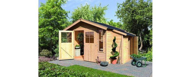 Holz-Gartenhaus Kalmar 7 Natur 302 cm x 306 cm