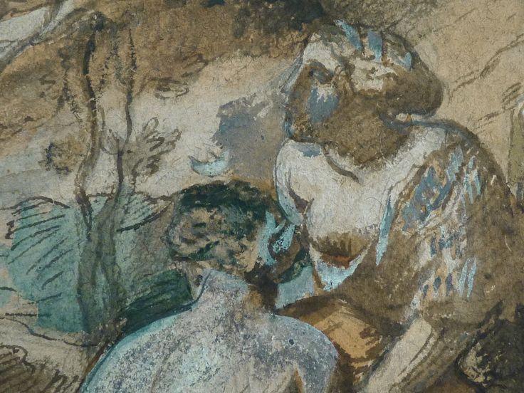 CHASSERIAU Théodore,1840 - Diane et Actéon, Etude - Détail 03