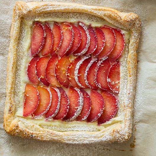 A recipe for Stone Fruit Tart.