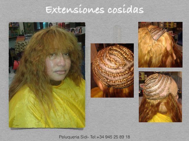 Extensiones de pelo cosidas en Peluquería Sidi- Vitoria (Pais Vasco)