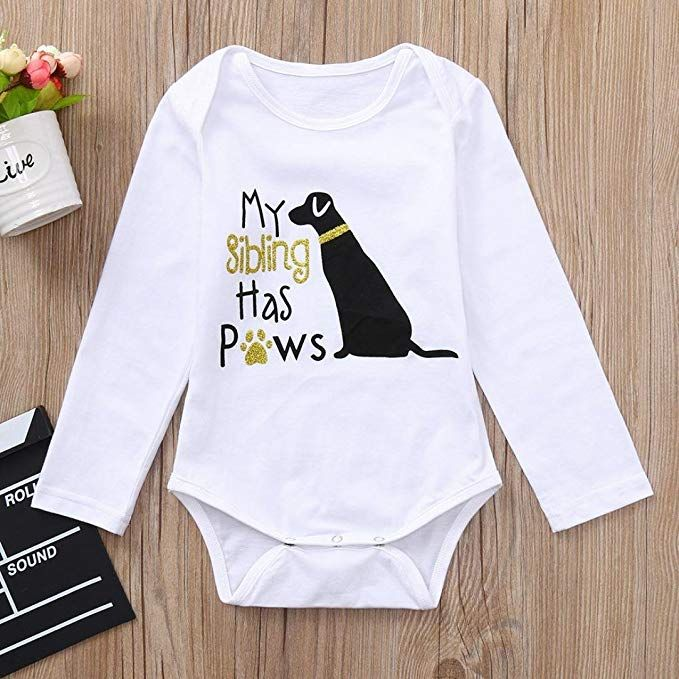 f4f2dc20676b0 Danhjin 1PC Jumpsuit Cotton Toddler Infant Baby Boys Girls Letter Cute Dog  Romper Jumpsuit  Clothes Outfits   Clothing  babyclothing  babyclothes