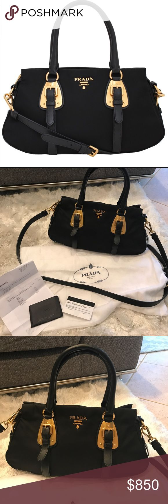 Prada tessuto bag Excellent conditions 💯 Authentic Prada Tessuto soft.     Dust bag, receipt and Authenticity cards included. Sz Medium. Prada Bags
