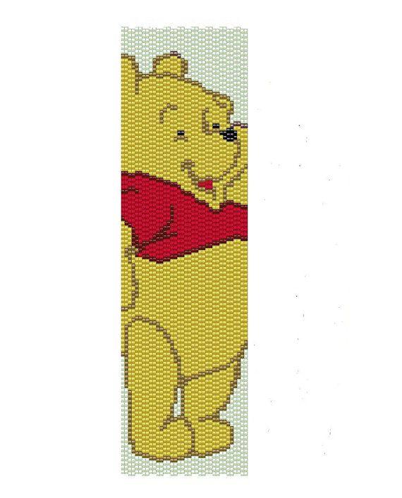 Winnie the Pooh Peyote Pattern pooh peyote cuff by BeadingWonders, $3.50