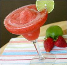Hungry Girl Frozen Strawberry Margarita...I make this all the time & it is so delicious!!! You'd never know it was low-cal!