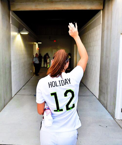 Lauren Holiday after retirement game