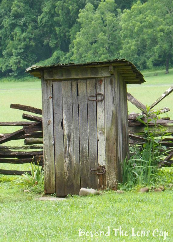 Rustic Old Outhouse with Horseshoe Hinges  5x7 by BeyondTheLensCap, $15.00