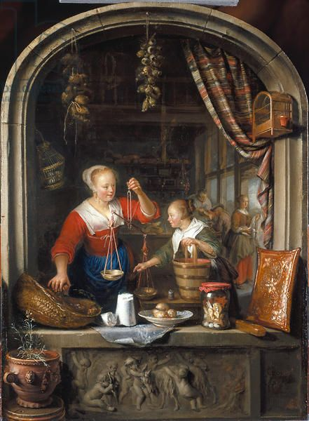 The Grocer's Shop, 1672 (oil on canvas)