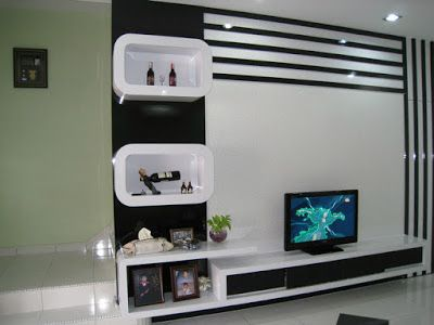 Modern Tv units and display shelves www.learndecoration.com