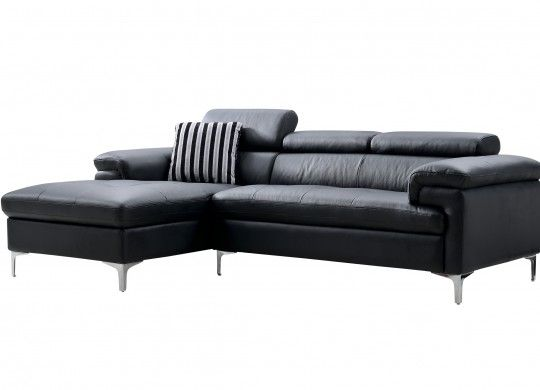 Condo Size Genuine Leather Sofa Set