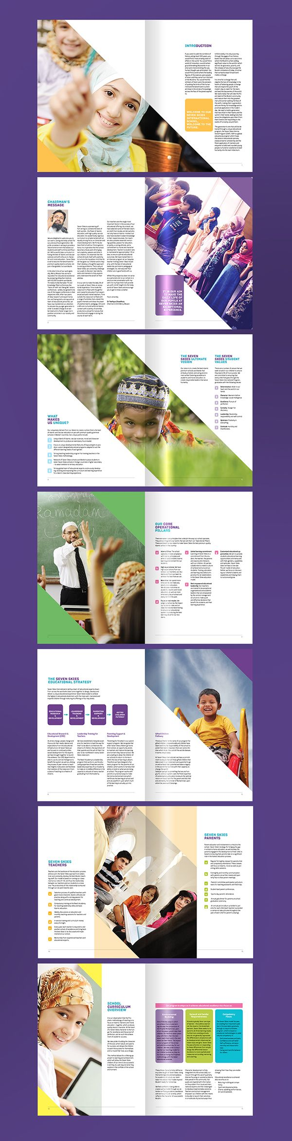 Seven Skies International School (Prospectus) on Behance