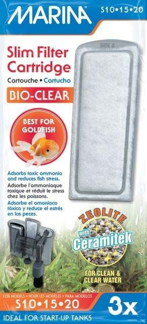 MARINA Slim Filter Bio-Clear Cartridge with Zeolite