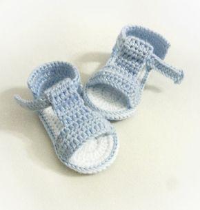 Articoli simili a Sandali del bambino, uncinetto bambino scarpe, scarpe estive su Etsy