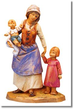 5 Inch Scale Rebekah, Aram and Adel - Wife and Mother with Children by Fontanini for Bekah