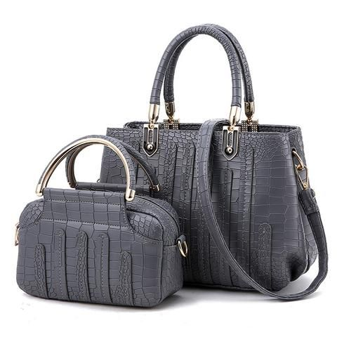 Fashion Pu Leather Women's Tote Bags  Set - Purple,Black,Gray,Pink,White,Blue,Red  Handbags Tote Bags  Matching crossbody 2017 cute Plain Solid style fashion gift ideas clutch  For her girls inspiration wallets products online for sale website link internet online shopping buy shop store AuhaShop.com