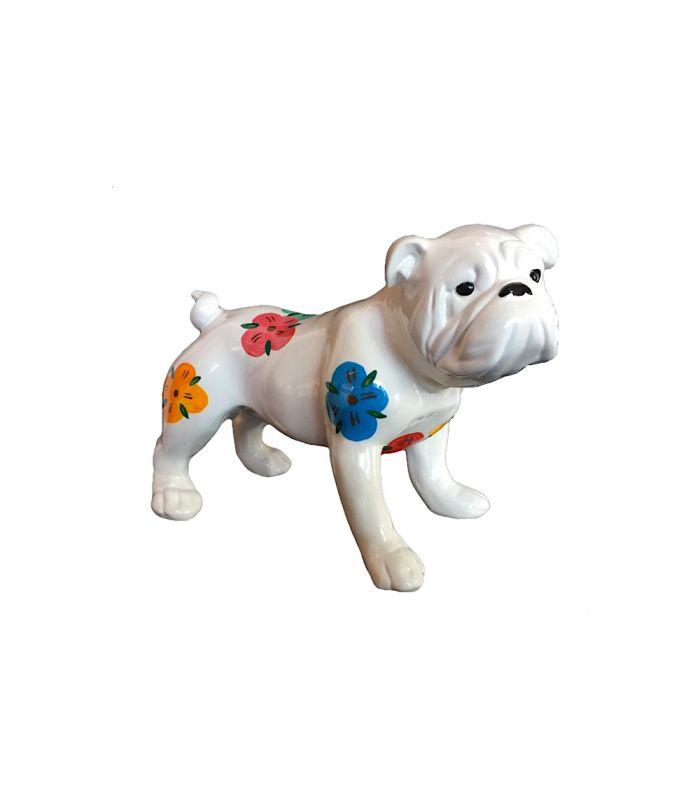 Statue Bouledogue Blanc Fleurs - Animal Decoratif en resine - 34 x 17 x 23 cm Description du modèle :Petit bulldog anglais debout, couleur blanc avec motifs de fleurs, peint àla mainCaractéristiques :Référence du modèle : ART119Marque : AnimartdecoDimensions : 34 x 17 x 23 cm (Longueur x hauteur x largeur)Poids : 1,75 Kg