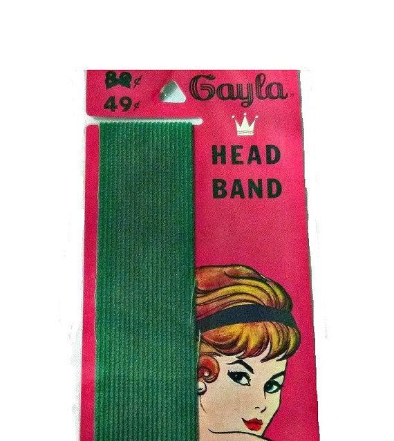 Vintage Head Band Green 50s Hair Band Rockabilly Hairdo 60s