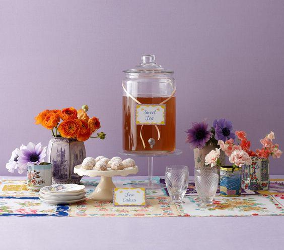 Bridal shower theme creative tea party ideas tea tins for Unique tea party ideas
