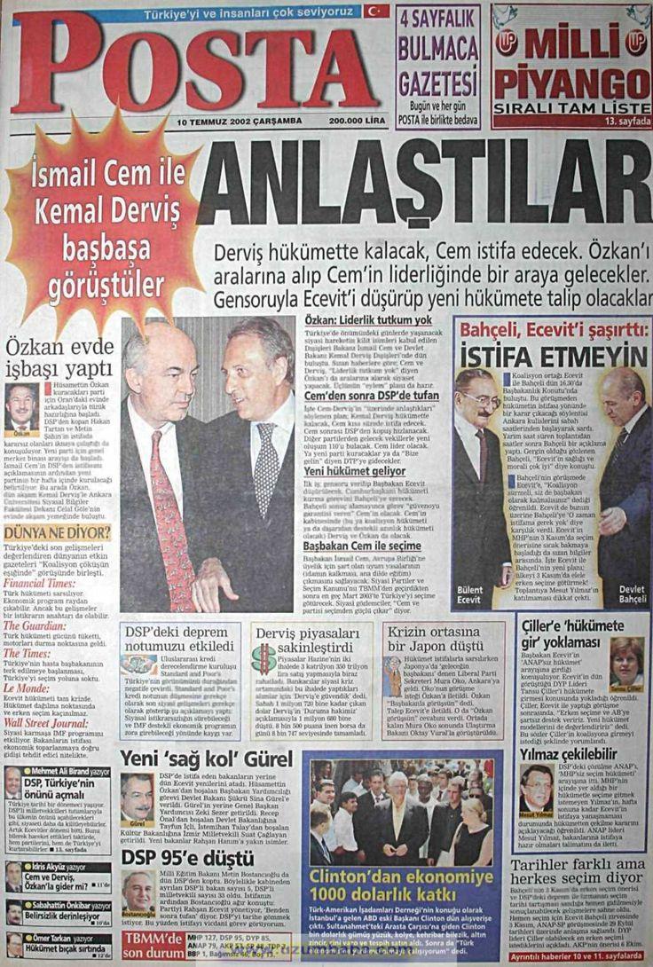 Posta gazetesi 10 temmuz 2002