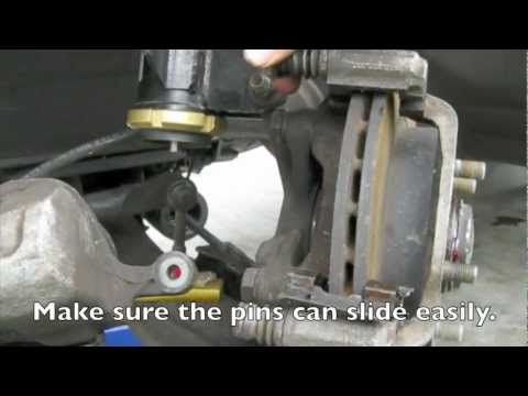How to Change Brake Pads (240sx) - YouTube