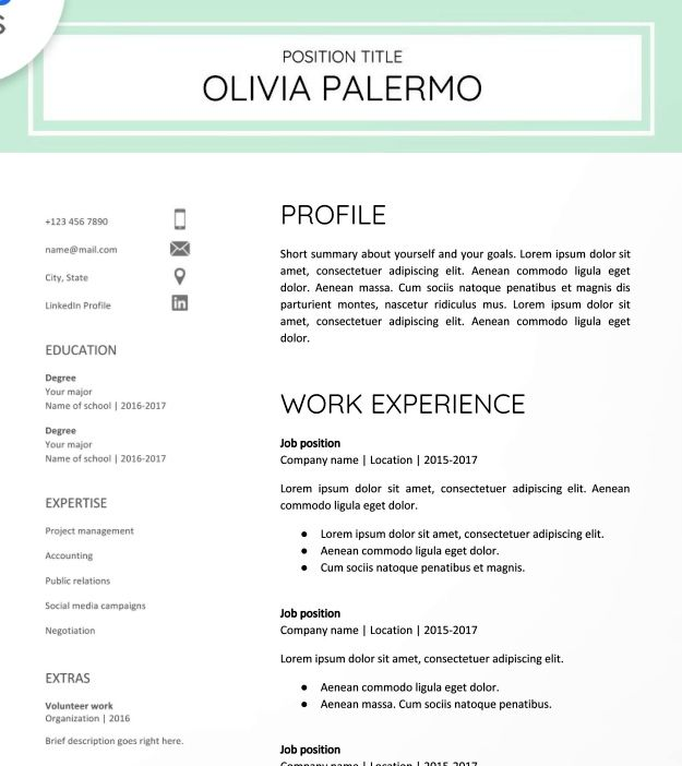 30 Google Docs Resume Templates Downloadable Pdfs Free Printable Resume Resume Templates Free Printable Resume Templates