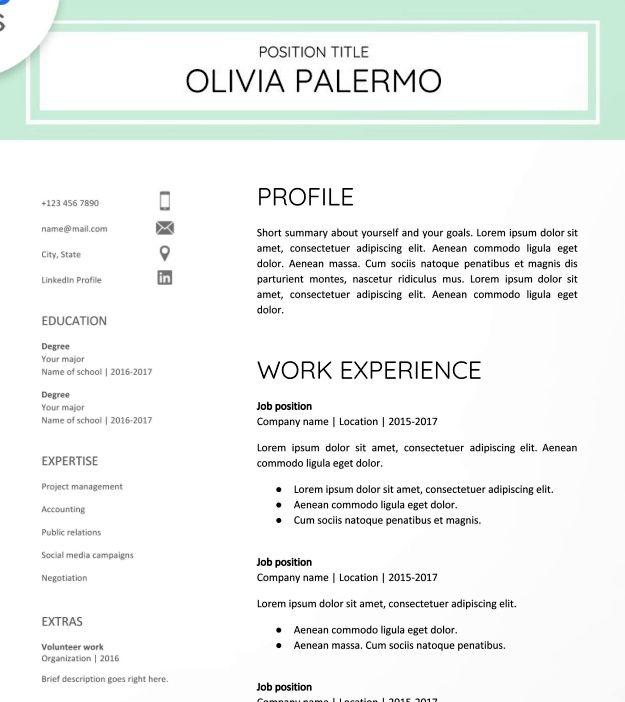 30 Google Docs Resume Templates Downloadable Pdfs Free Printable Resume Teacher Resume Template Resume Templates