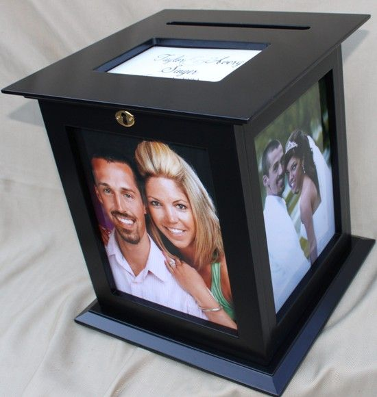 Locking Wedding Card Box Rotates On A Baseshow Off Your Engagement Photos