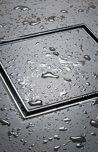 StyleDrain Tile - California Faucets. Flush shower drain cover that you inlay your tile in. No more nasty drain covers.