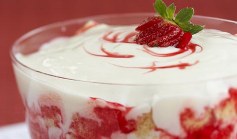 Canada Day Strawberry Trifle