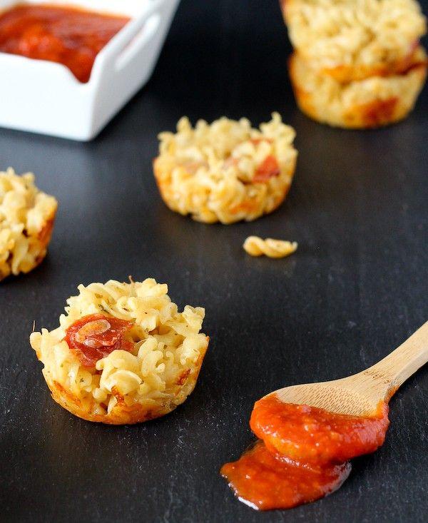 Pizza Mac and Cheese Muffins - RachelCooks.com
