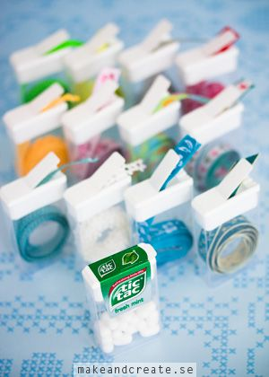 DIY Washi Tape Dispensers out of Tic Tac boxes. - Make & Create