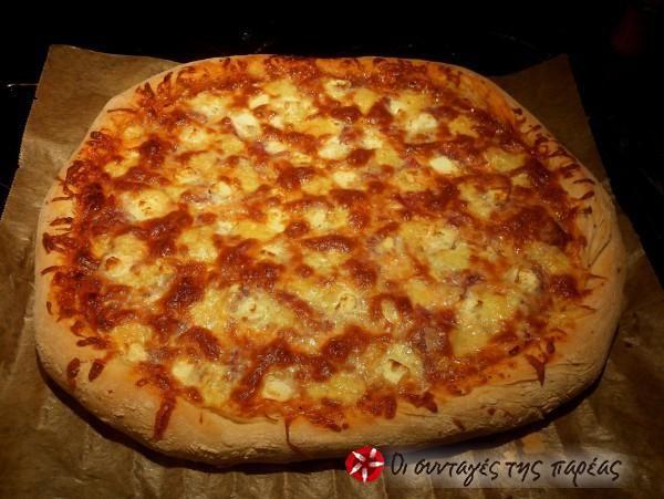 Πίτσα με διπλό πεπερόνι αφράτη #sintagespareas