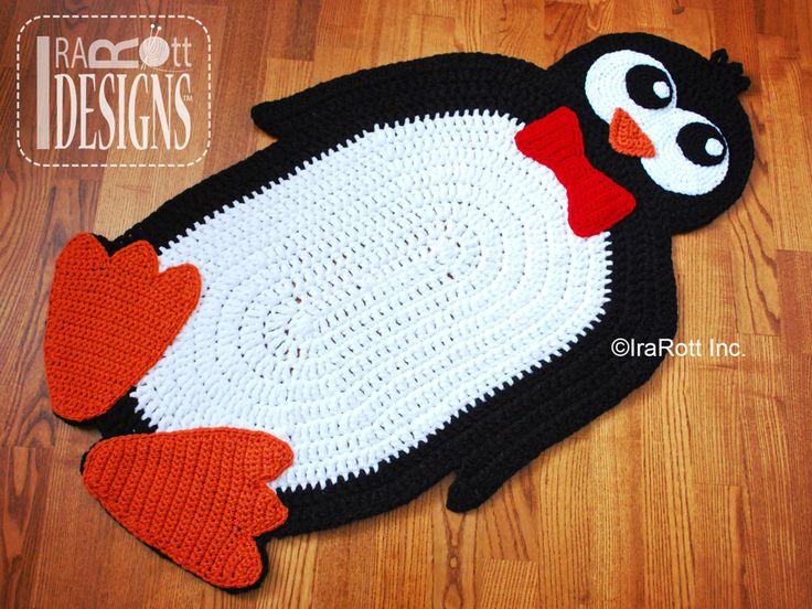 Floppy Feet Penguin Rug PDF Crochet Pattern By IraRott